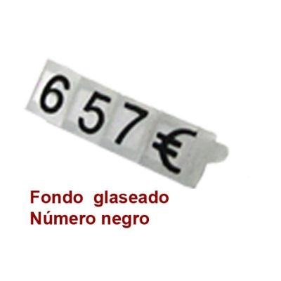 Marcaprecios 5x4 mm. glass / negro