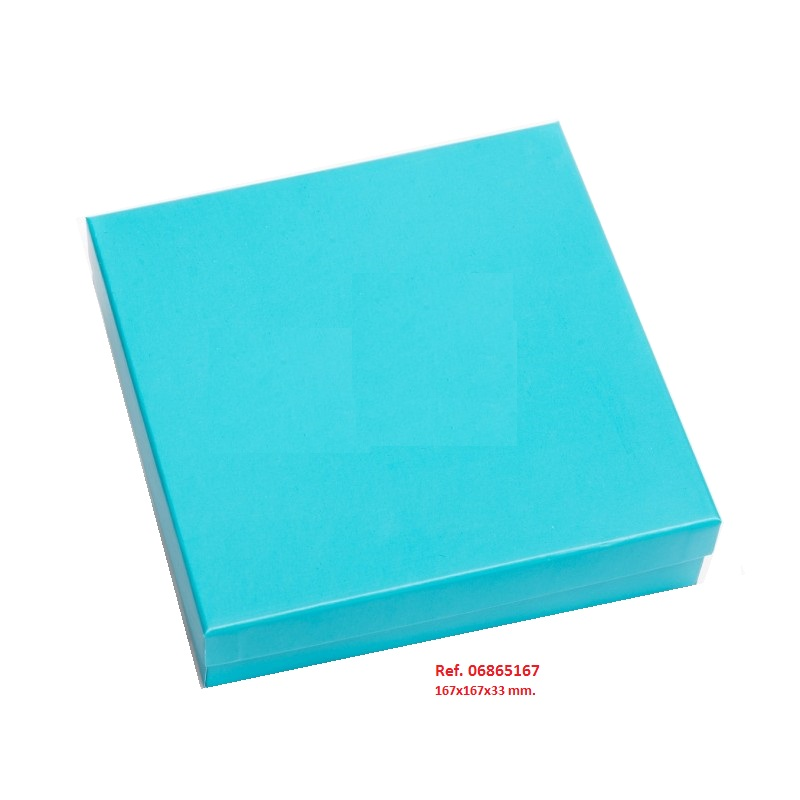 Caja Huesca Blue collar/aderezo 167x167x33 mm.